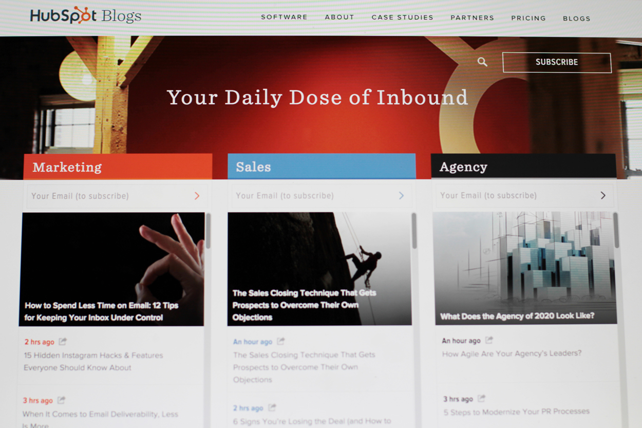 HubSpot's blog for visitors and vision