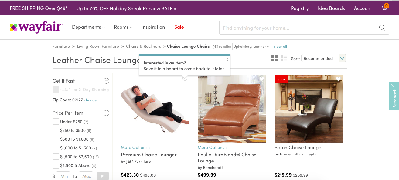 Wayfair Tooltip