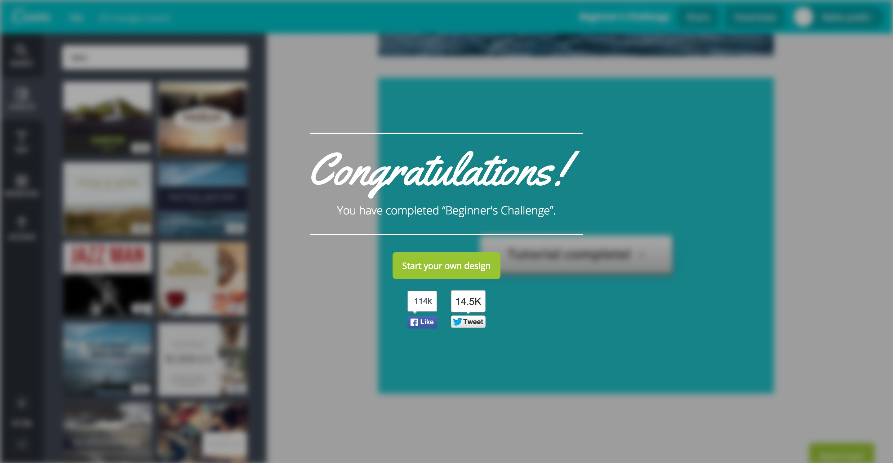 canva user onboarding step 15