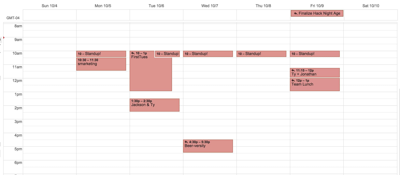 my-typical-week