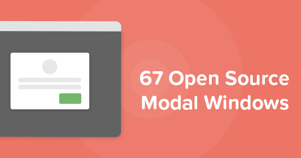 67 Open Source Modal Window Plugins Made With Jquery Javascript