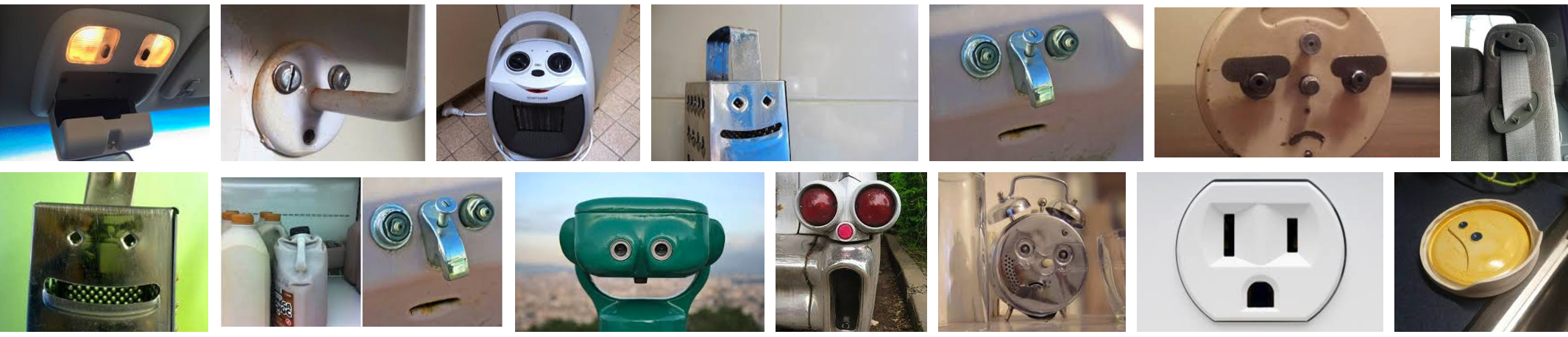 """A google image search of """"faces in objects"""" shows funny faces"""