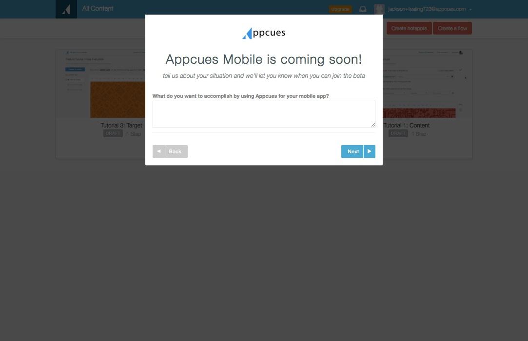 mobile survey step 3