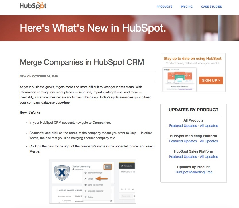 Hubspot blog feature release