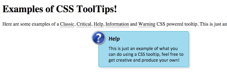 CSS-only tooltips