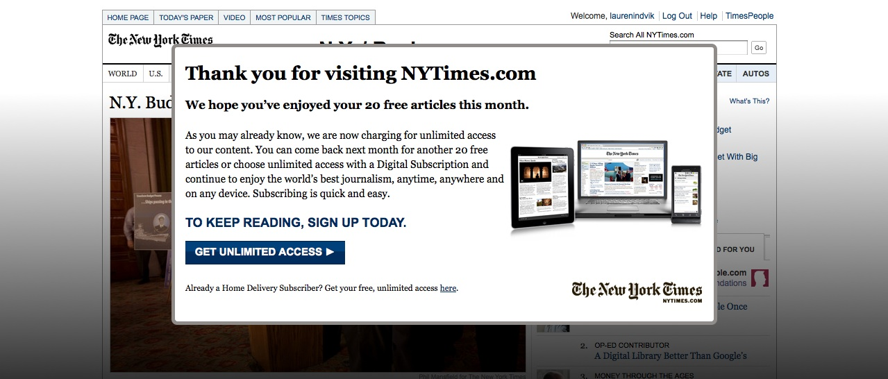 NYT New York Times Paywall
