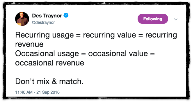 A tweet about user engagement and retention, explaining why we need a produt engagement stack.
