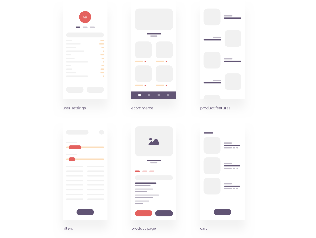 Wireframe kit free to download for iOS wireframe mockups. Screenshot examples of low fidelity app wireframe mockups