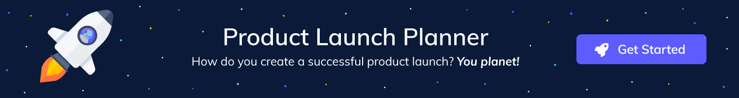 Click this call to action banner to go to the free product launch planner resource
