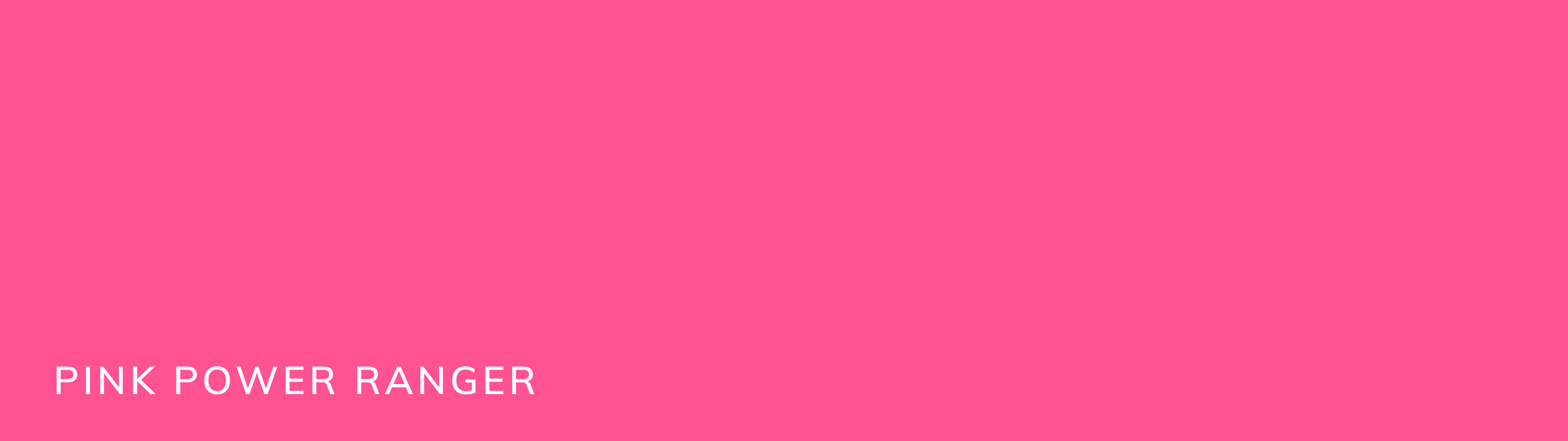 Another secondary brand color is this vibrant dark pink. This color is called pink power ranger.