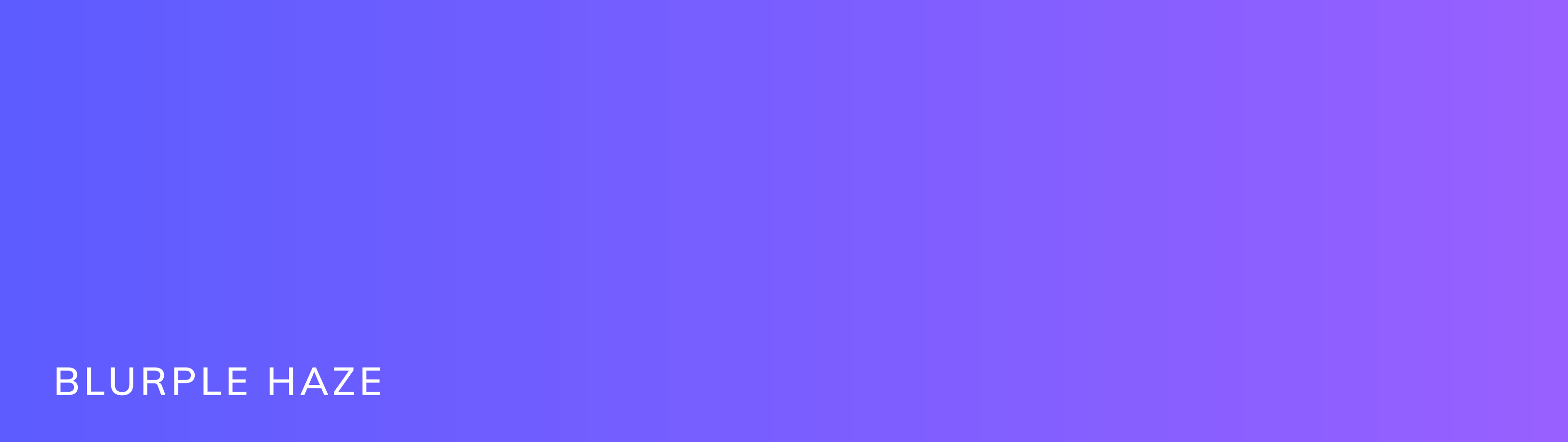 Our brand color gradient called Blurple Haze. This gradient goes from a blue purple to a red purple.
