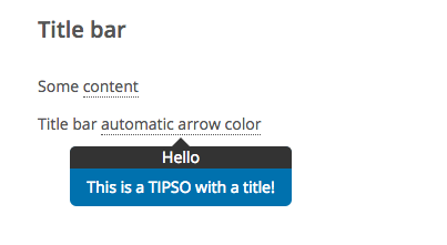this is an example of a jquery tooltip that has two colors and a title bar. it is a lightweight and responsive jquery tooltip plugin with css3 animations. it is also a wordpress tooltip plugin.