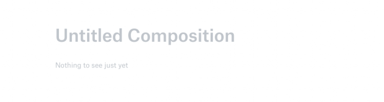 """this is a screeshot from dropbox showing clever ux copy in a blank document. This is a good empty state screen example. the headline reads """"untitled composition"""""""