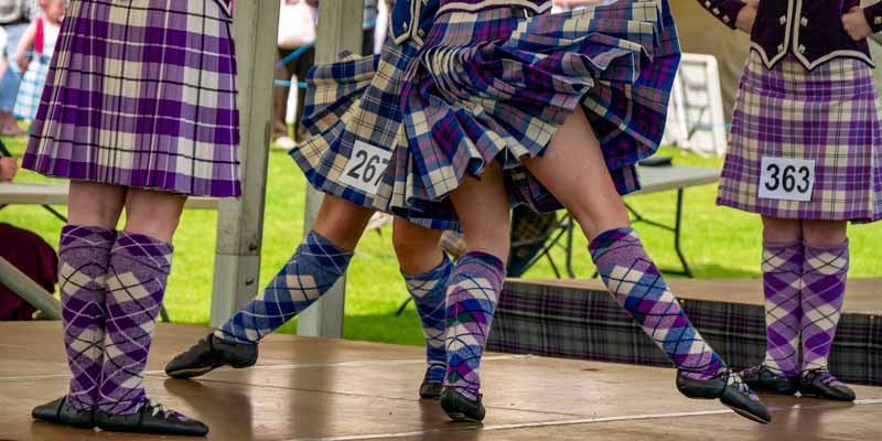 Traditional Highland Dancing competitions at the Oban Games
