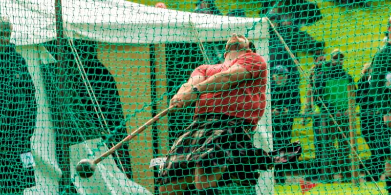 Traditional Highland Games light and heavy field events