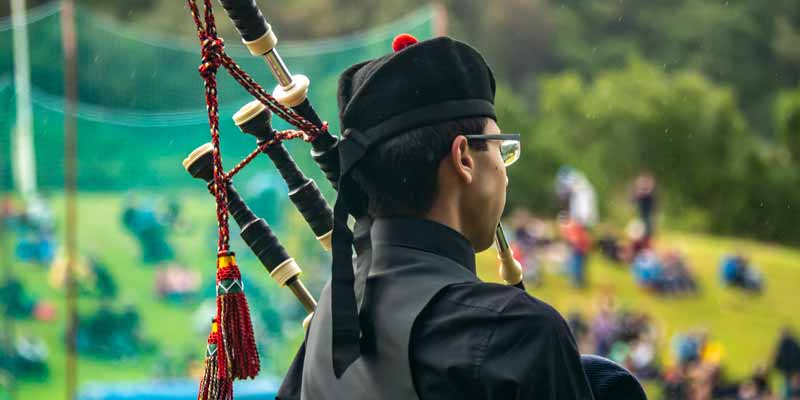Day two of the prestigious Argyllshire Gathering Piping Competition at the Oban Games