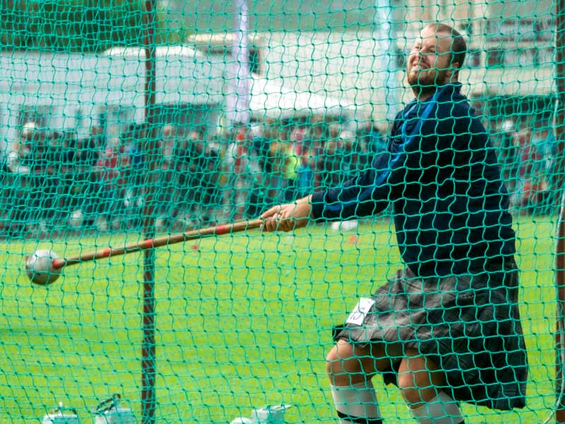 The highland games tradition of track, light and heavy field events bring together speed, strength, stamina and agility
