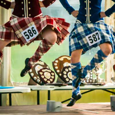 The Highland Dance competitions are an Oban Games highlight