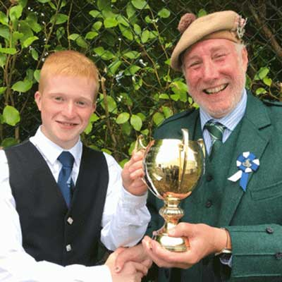 Ross Connor, winner Intermediate March, Strathspey and Reel Competition