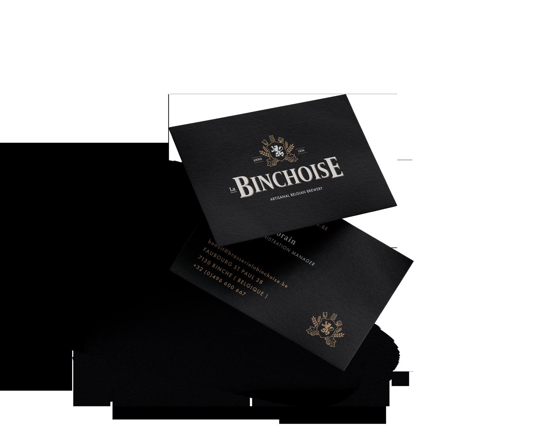 Carte de visite Brasserie La Binchoise