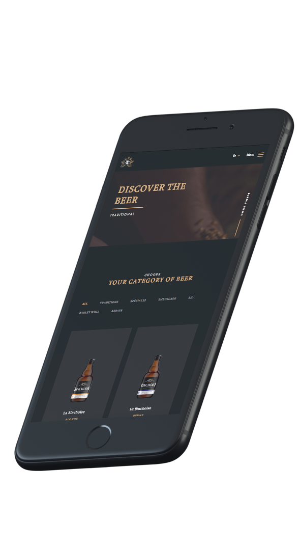 Website Design Brasserie La Binchoise