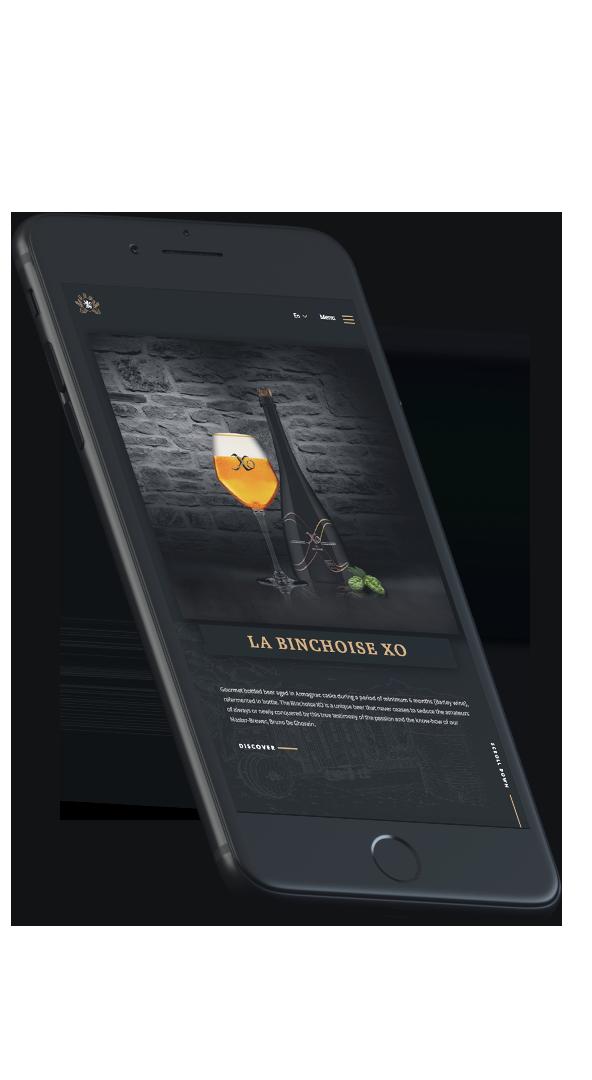 Website Design Brasserie La Binchoise