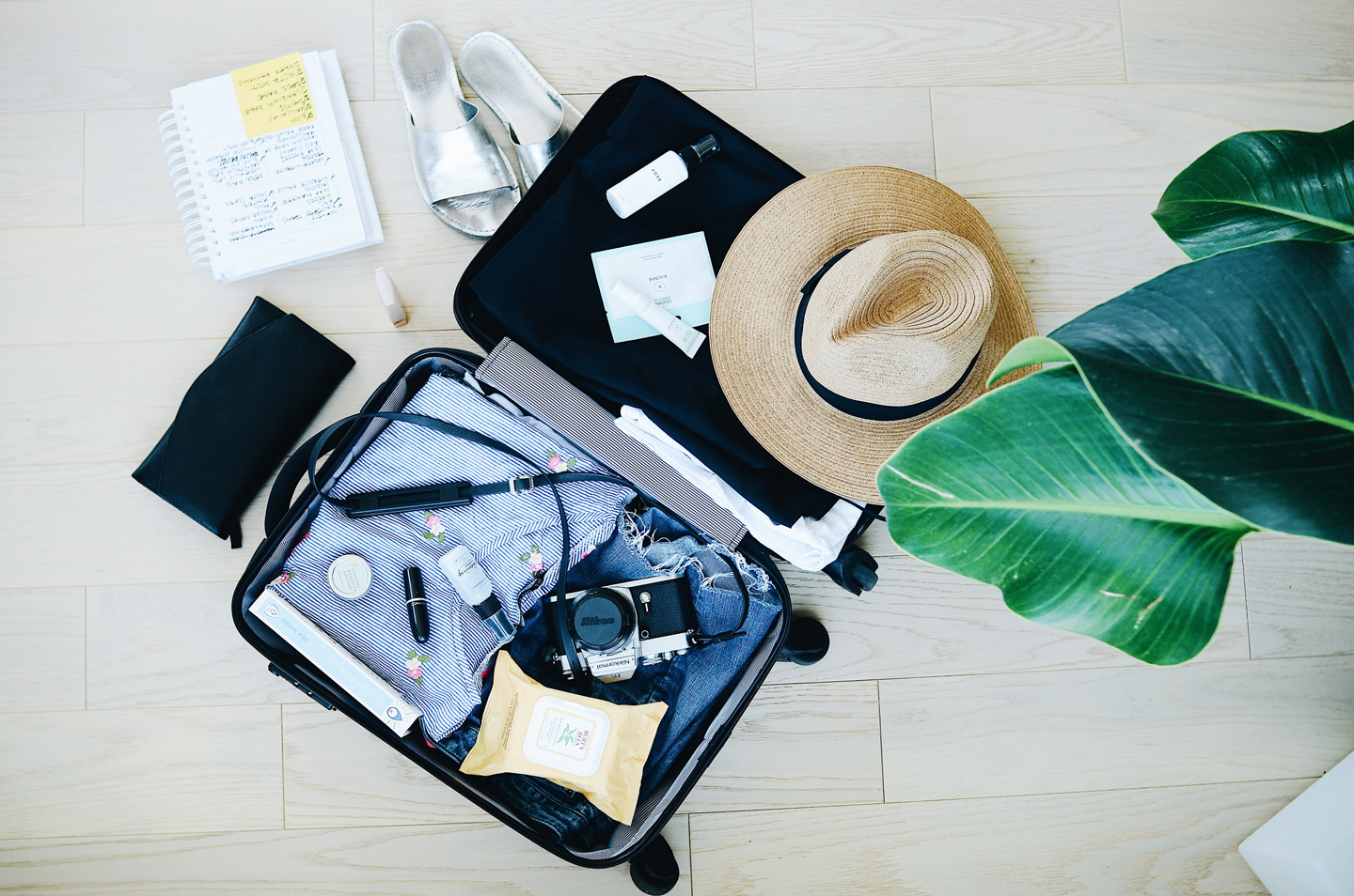 photo of an opened suitcase
