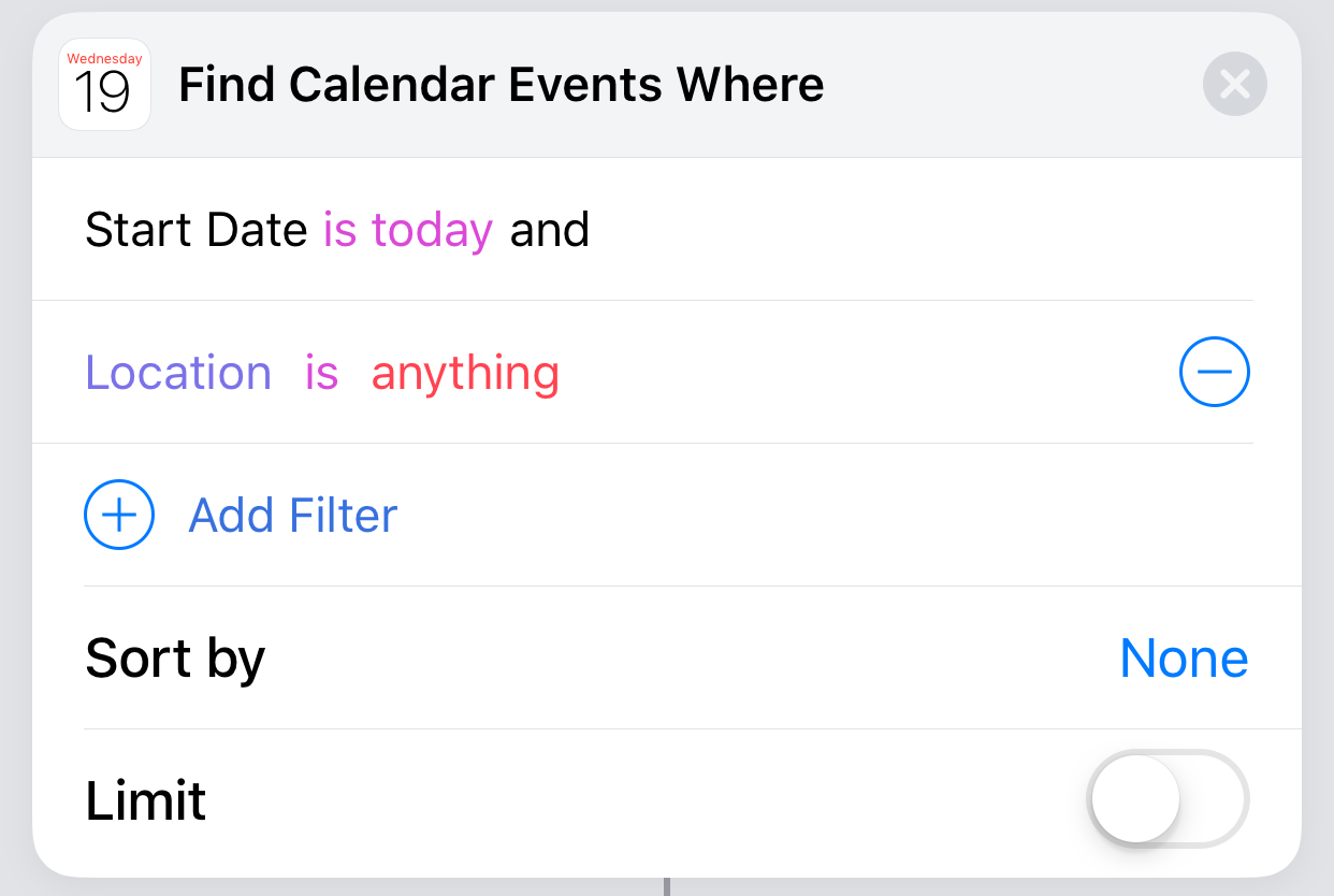 Find Calendar Events
