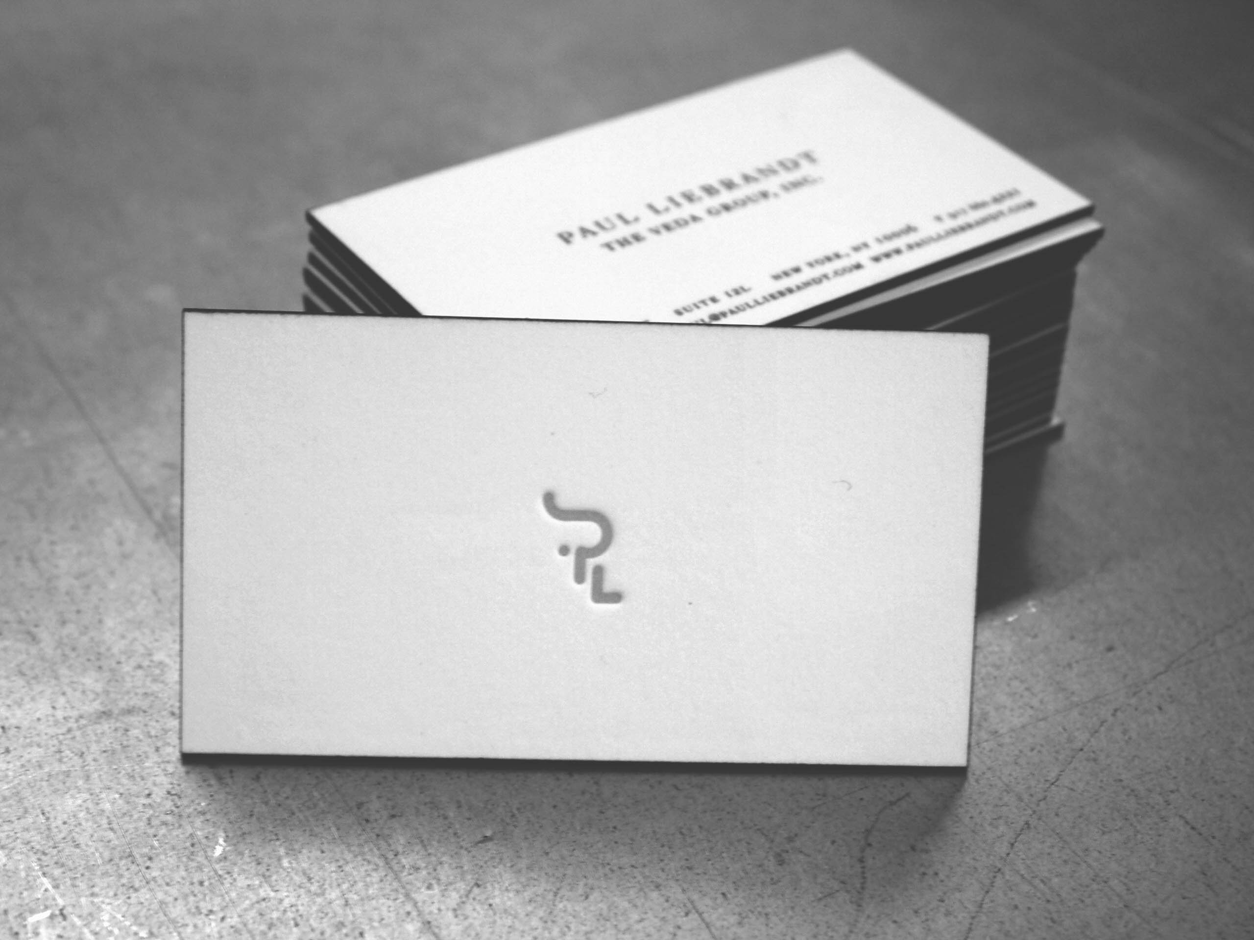 Paul Leibrandt letterpress business cards with painted edge
