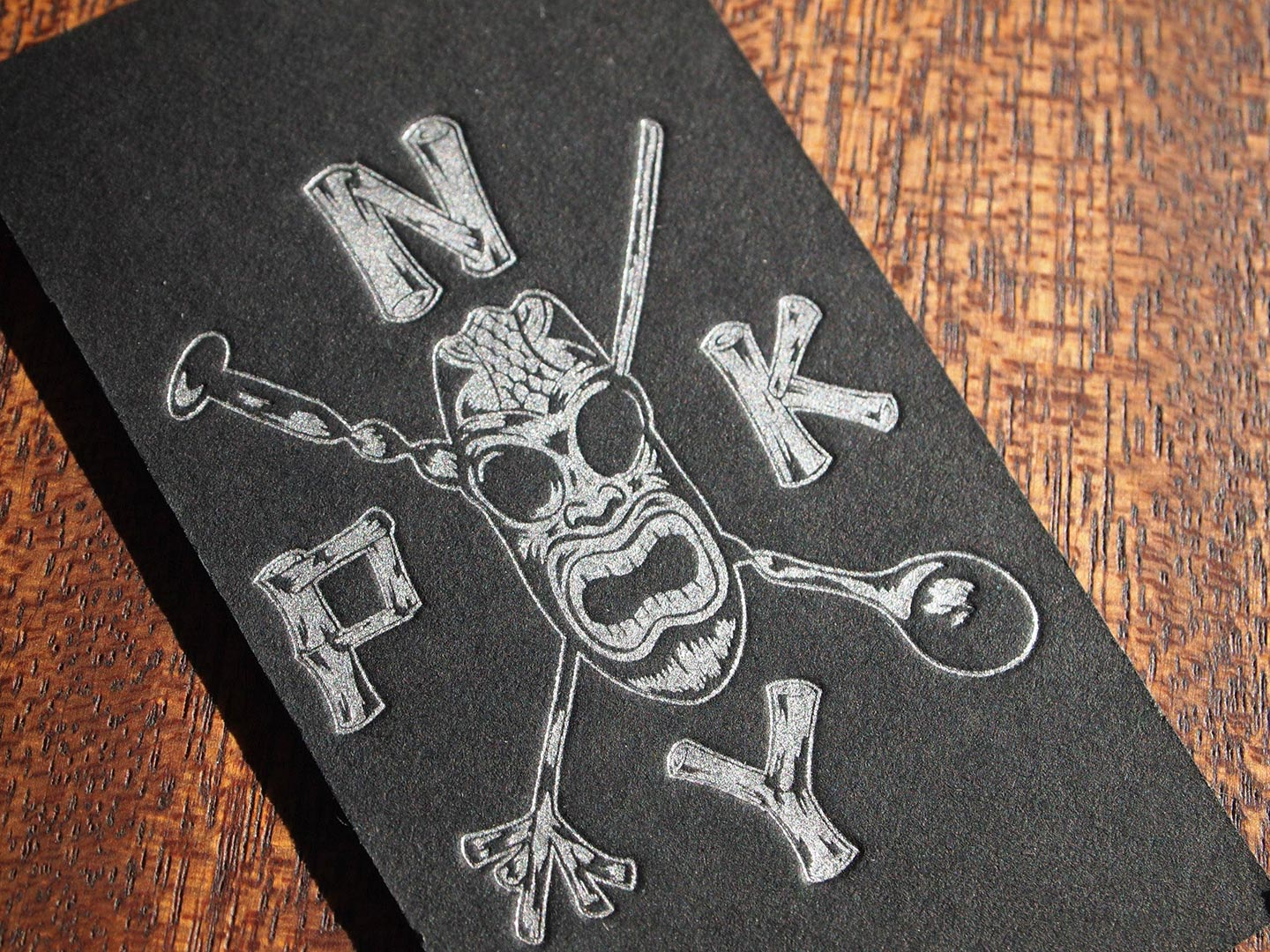 PKNY (Painkiller) tiki bar business cards