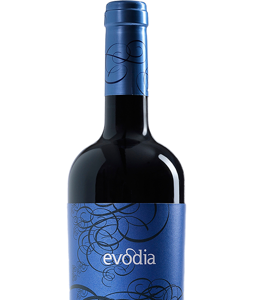 Evodia Spanish Garnacha wine bottle and label