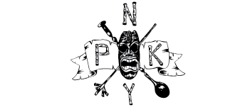PKNY (Painkiller) Tiki bar's branding by Giant Squid Creative