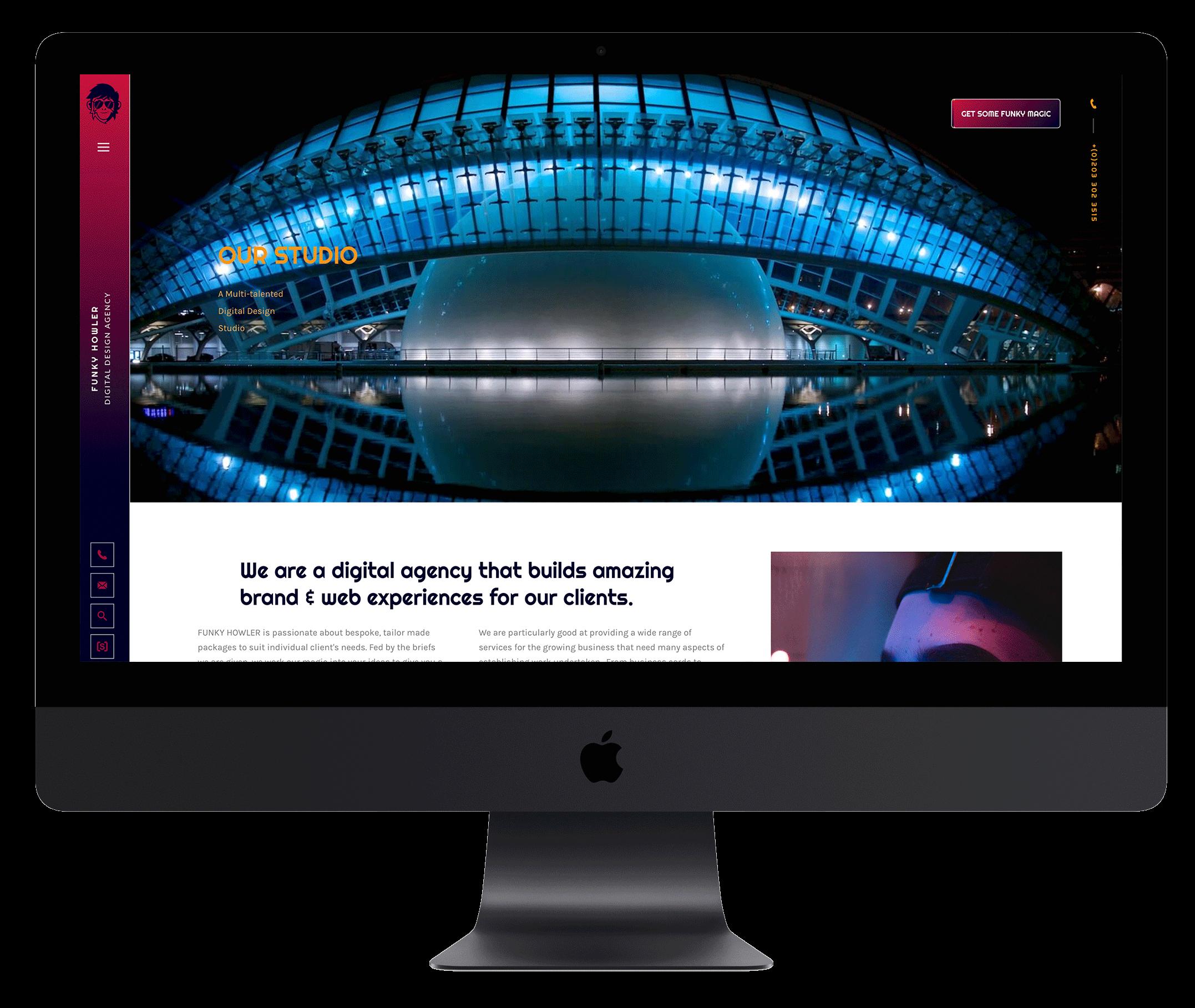 Modern Website with Side Menu