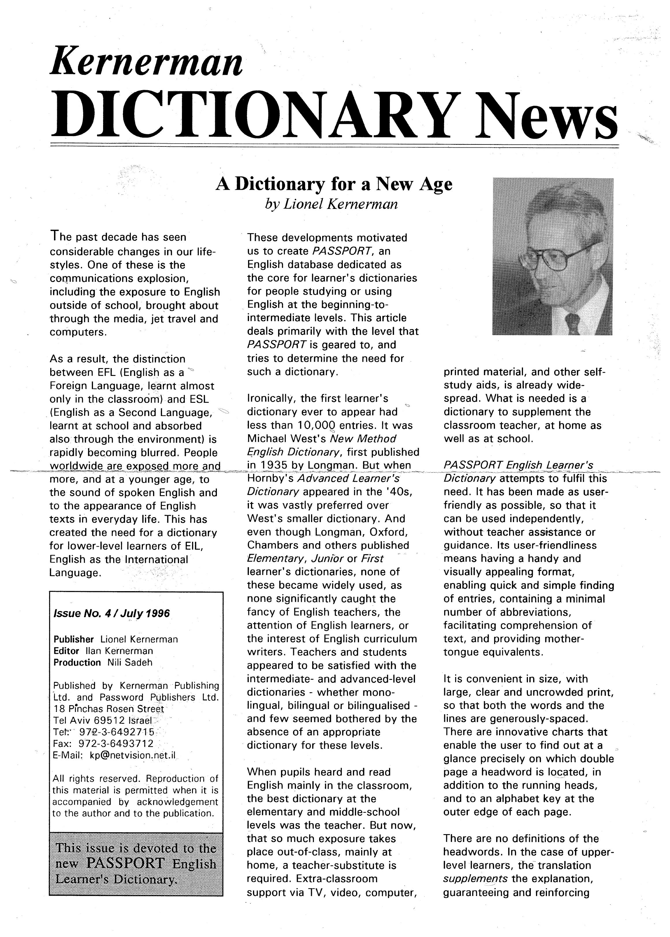 Kernerman semi-bilingual dictionaries