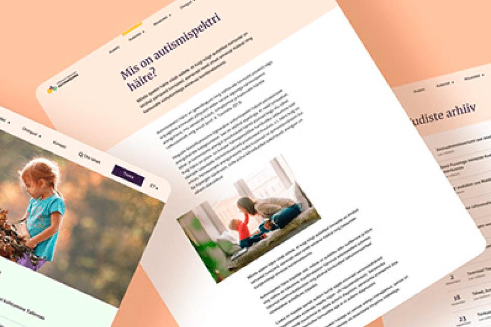 Tallinna- ja Harjumaa autismiühingu veebikodu