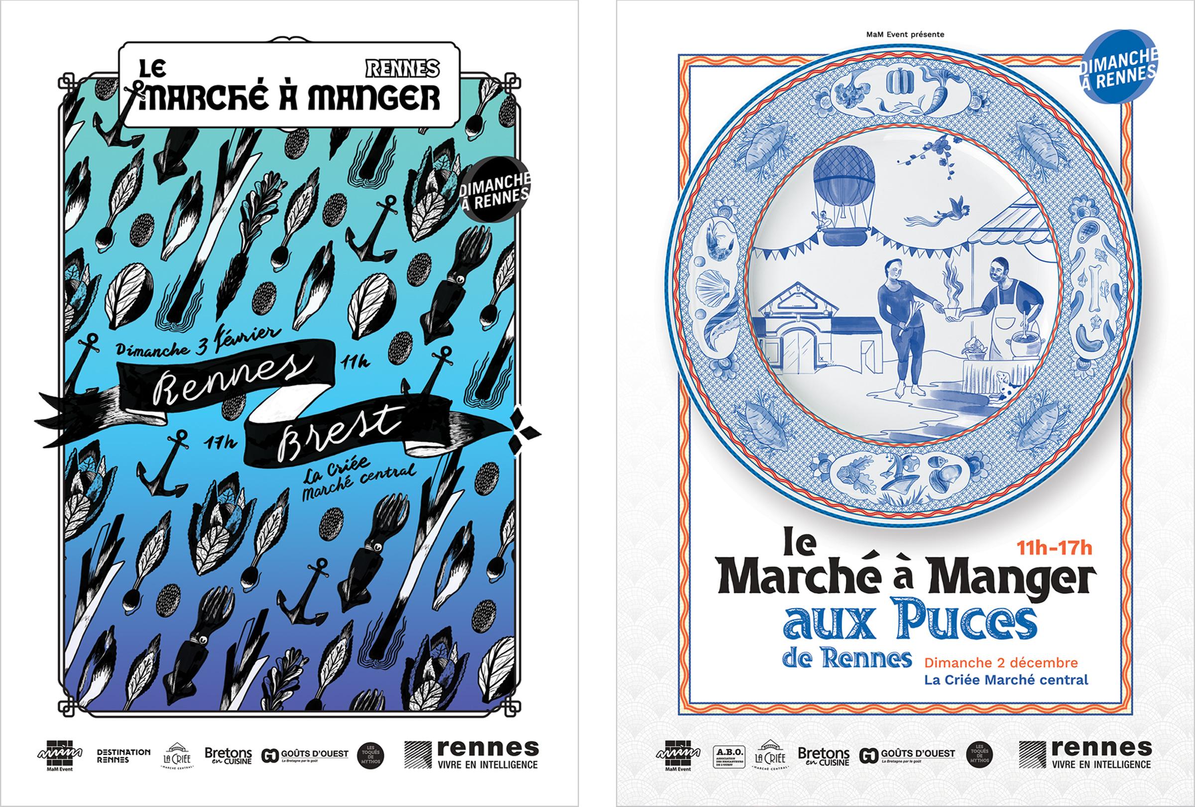 Marché à Manger Rennes création visuelle campagne affichage