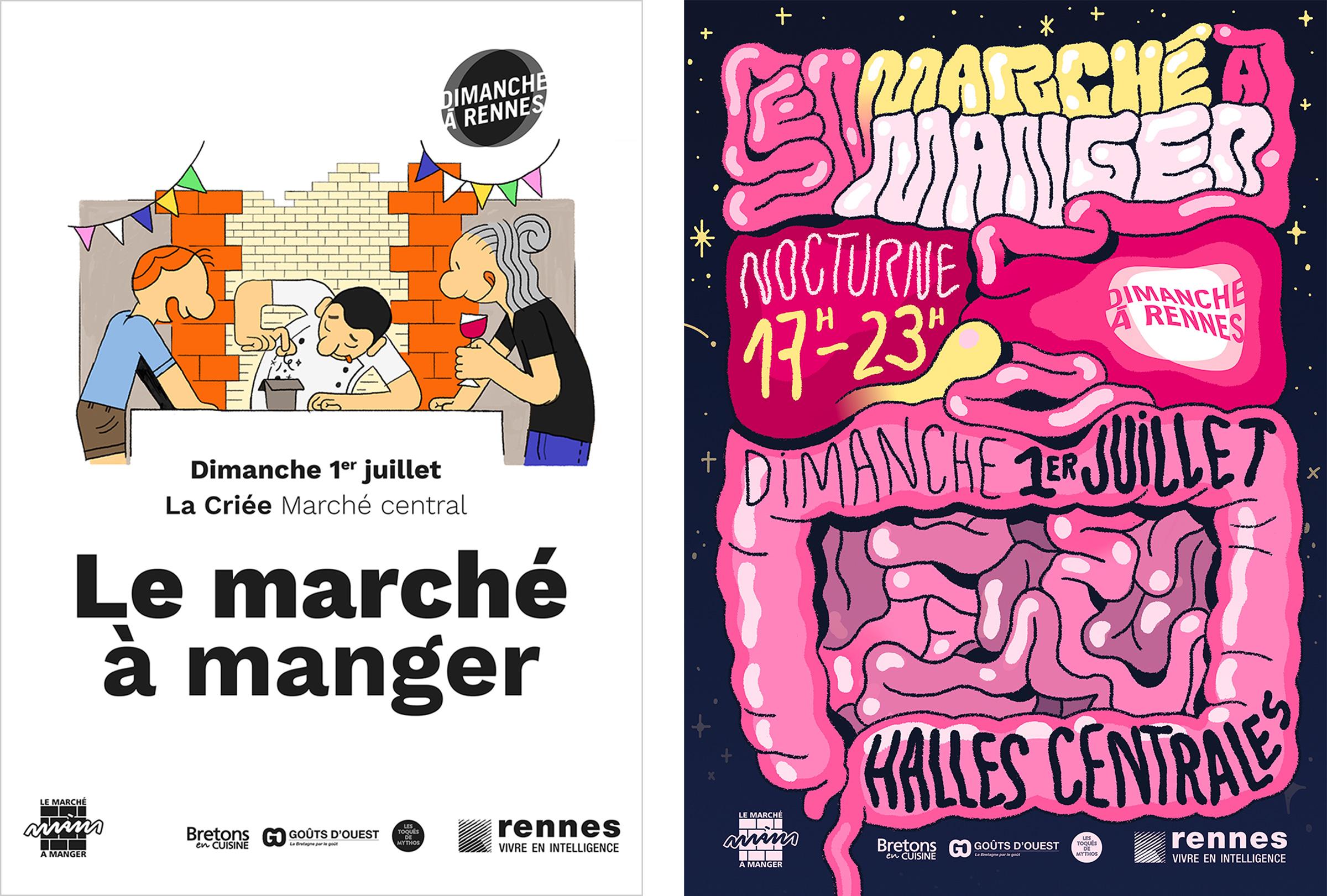 Marché à Manger La Criée Rennes Visuel création publicité