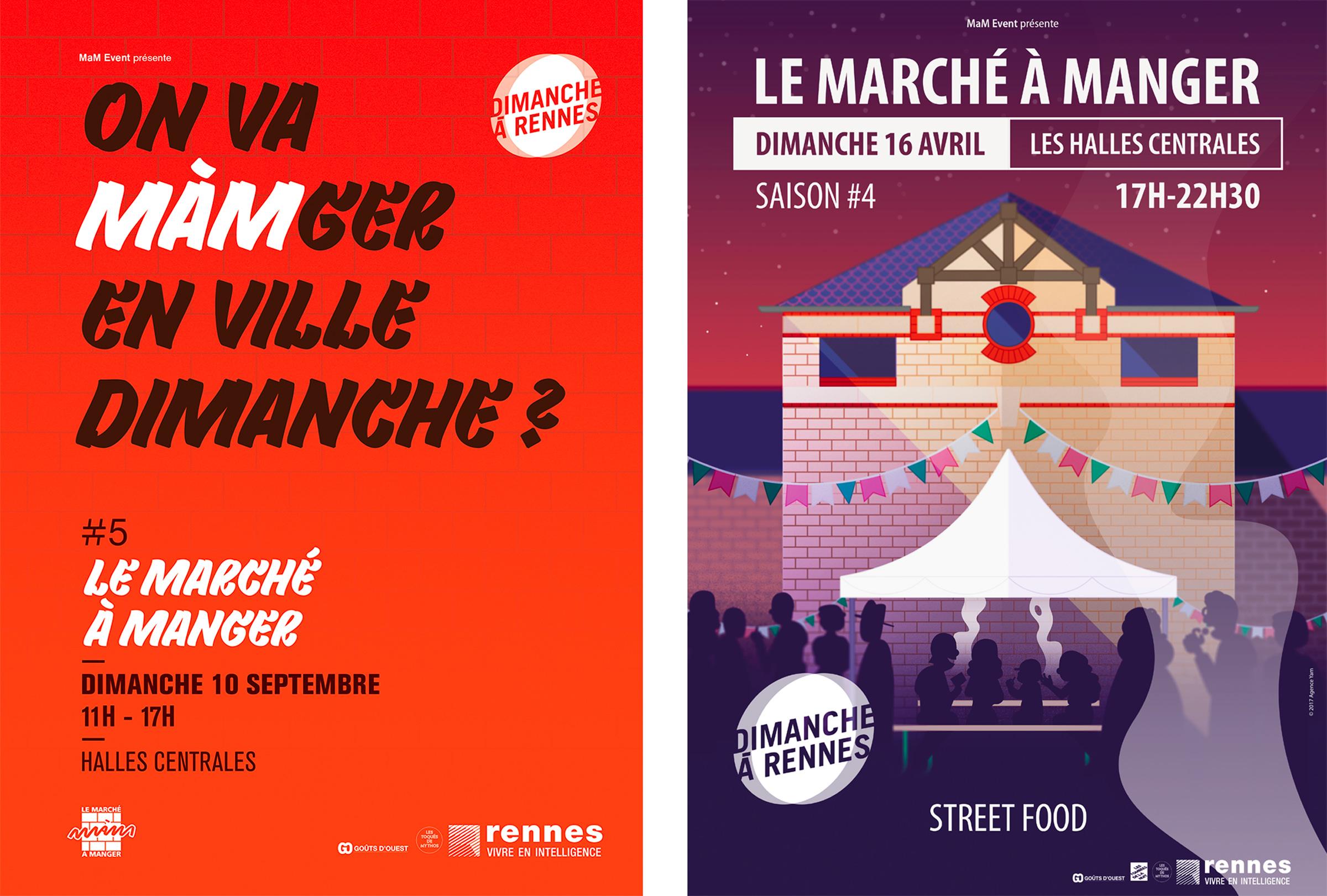 création d'affiche pour événement culturel à rennes