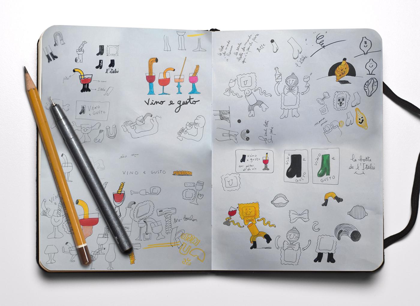illustration restaurant rennes publicité agence de communication
