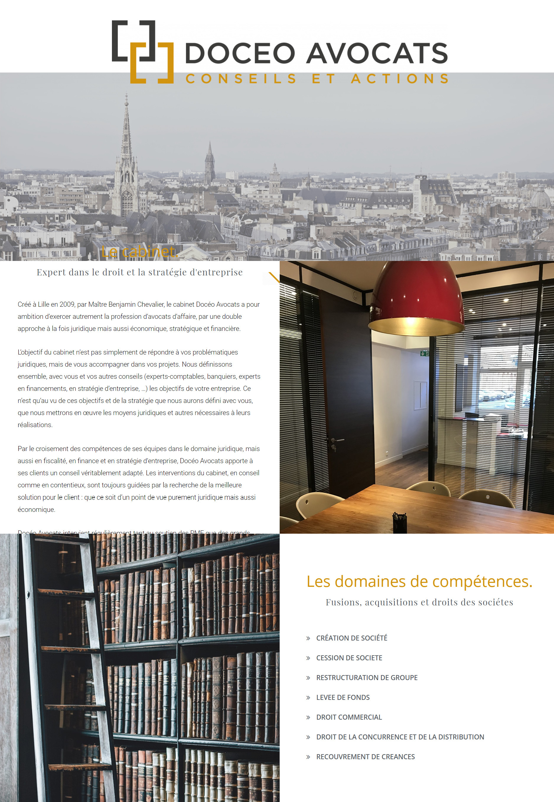 Site Doceo Avocats