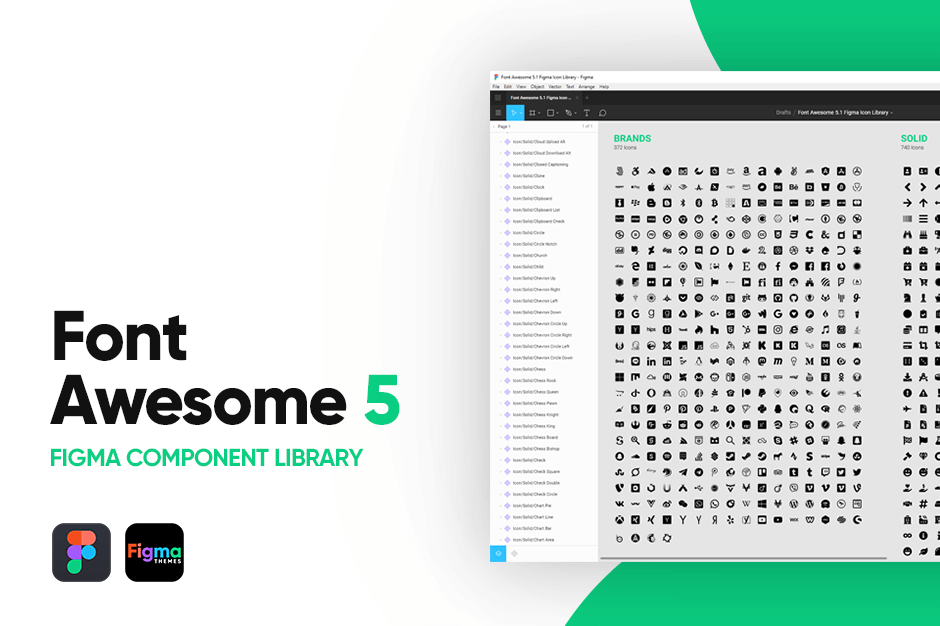 Figma Font Awesome 5 Icon Library