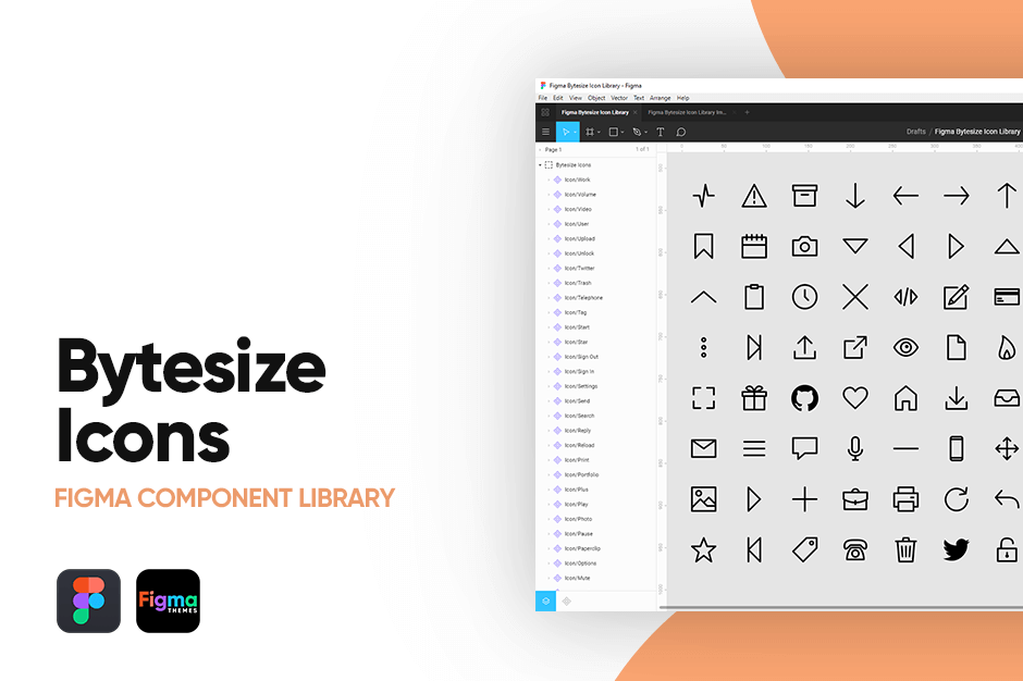 Bytesize Icons Figma Component Library Banner Image