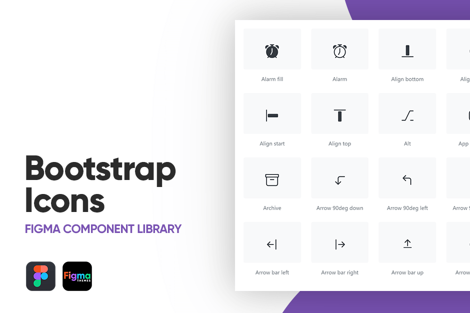 Figma Bootstrap Icon Component Library