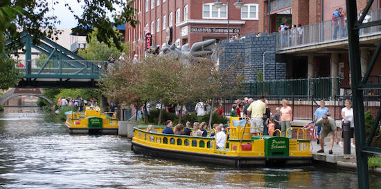 the Bricktown Canal Taxi is located at 111 S Mickey Mantle Dr, Oklahoma City, OK 73104
