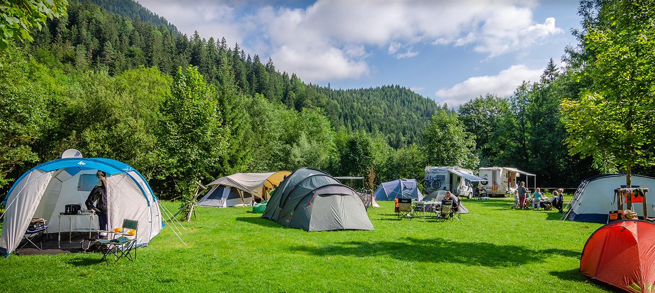 Camping ensoleilé