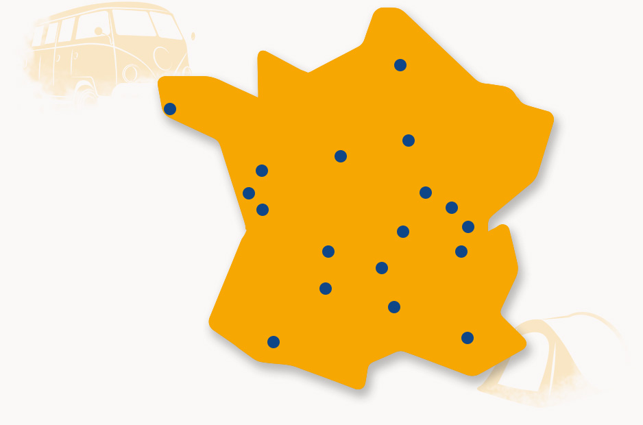 Carte de France des Camping de mon Village