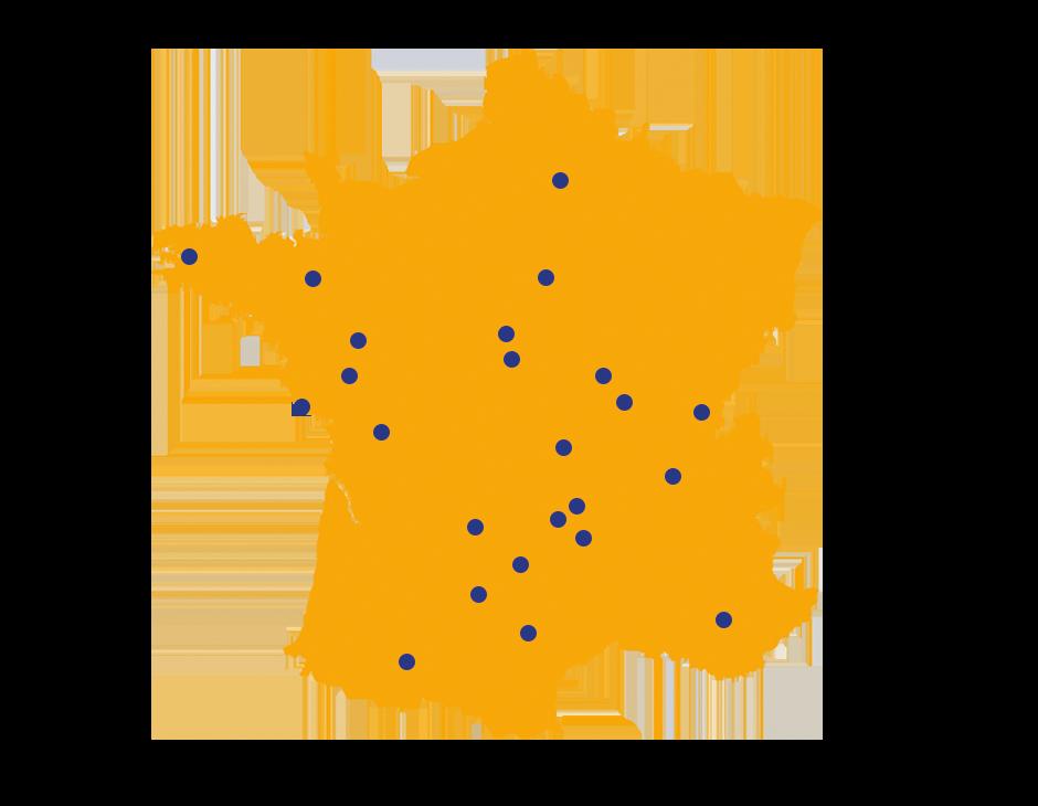 Carte de France des Camping de mon Village