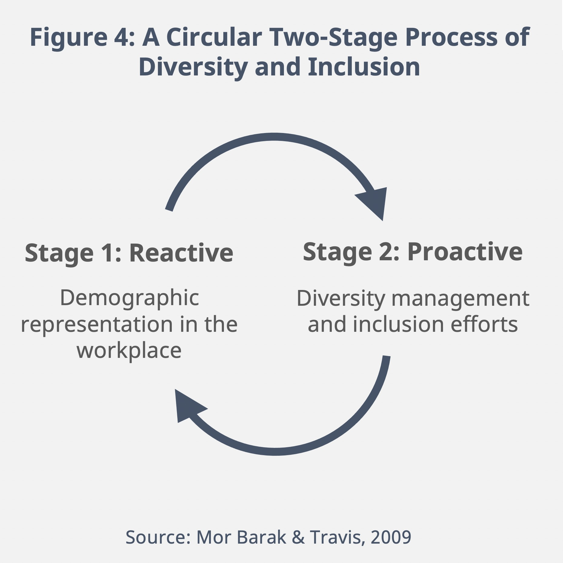 Figure 4: A Circular Two-Stage Process of Diversity and Inclusion