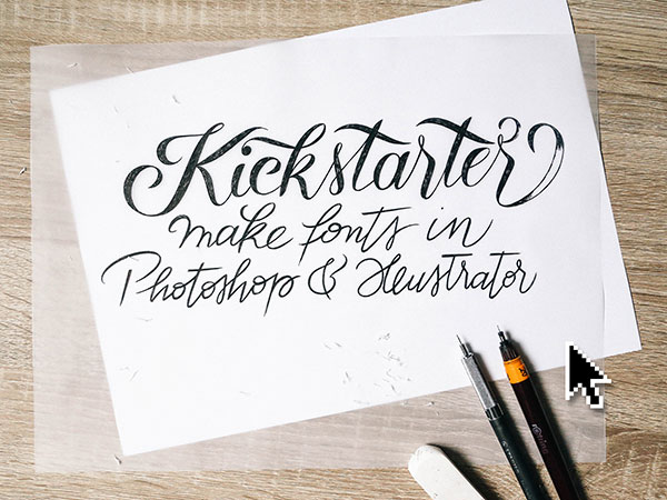 Kickstarter project to create fonts in Illustrator