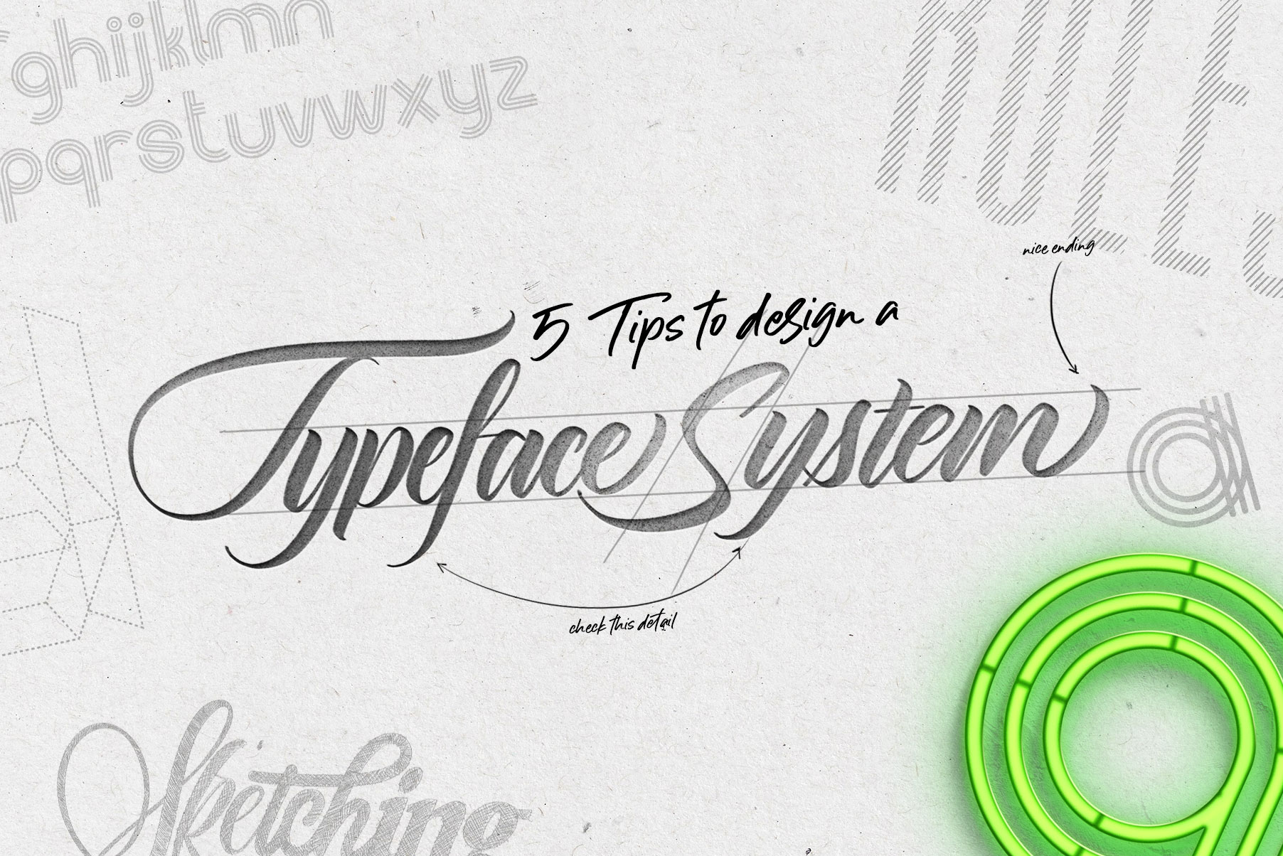 How to design a typeface system by creative director & letterer Daniel Hosaya